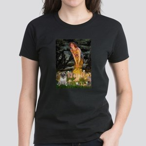 Fairies & Pug Women's Dark T-Shirt